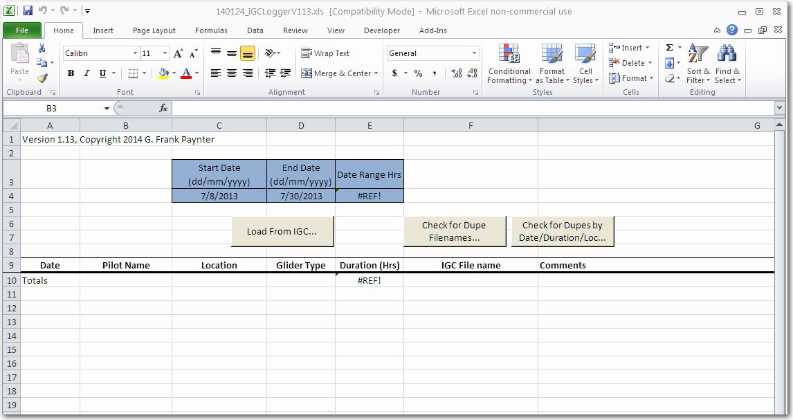 how to get excel file in 1 hour before version