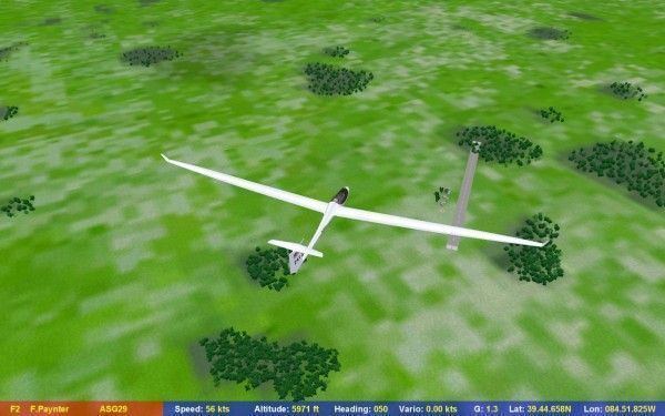 Hmm, why is Richmond airport over there and not right under my glider?