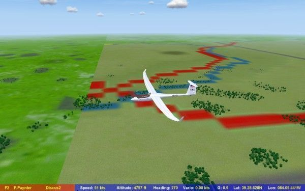 In Condor, showing the SeeYou culture information in flight