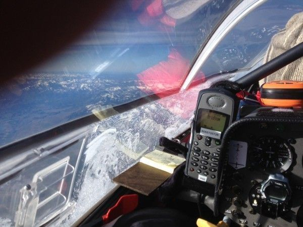 Downwind Record Flight - Cockpit View at 0807 PDT