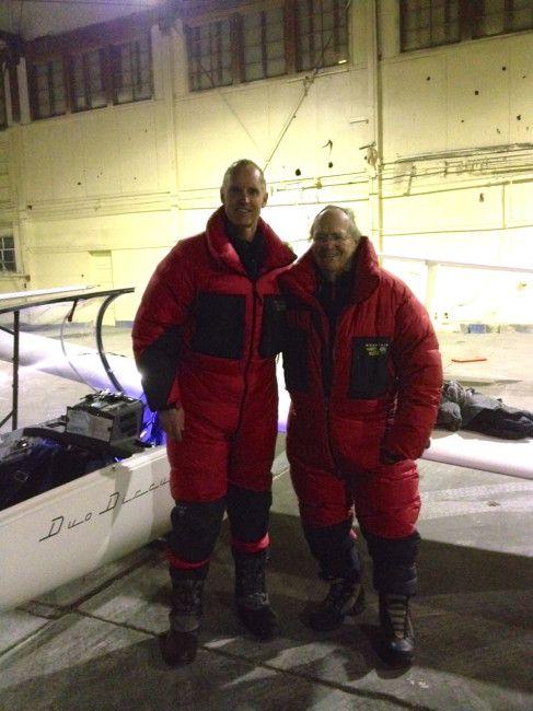 Gordo and Hugh after landing in Casper Wyoming