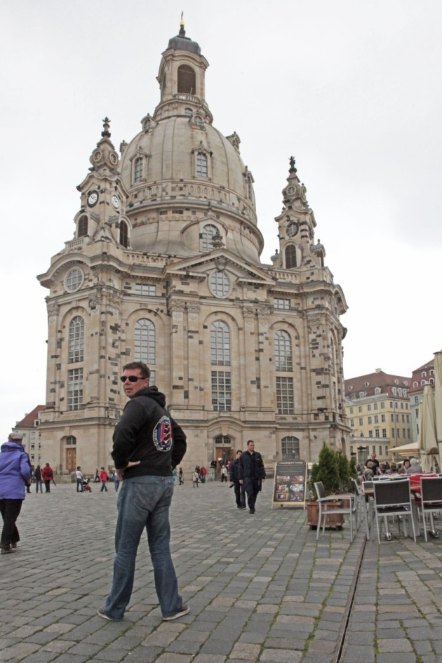 The restored Dresden church from the outside
