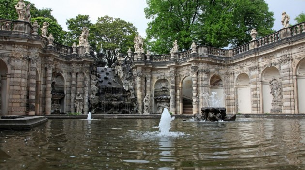 lovers fountain in Dresden palace