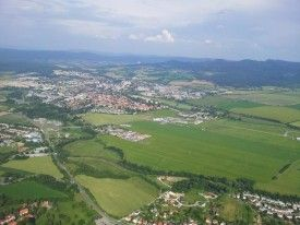 Arrival in Prievidza... since 2006 Chris has flown here every year...